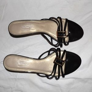 talbots black sandals 8.5